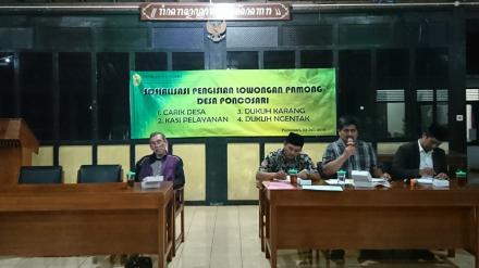 Sosialisasi Pengisian Lowongan Pamong Desa Poncosari