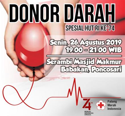 Donor Darah HUT RI 74