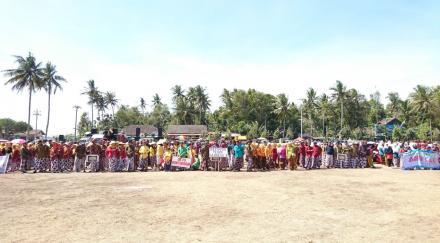 Upacara hari Jadi Desa Poncosari ke 73