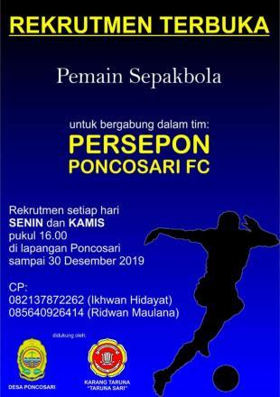Rekrutmen PERSEPON Poncosari
