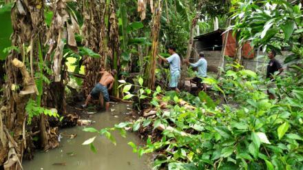 Pembersihan Sungai Dusun Bodowaluh
